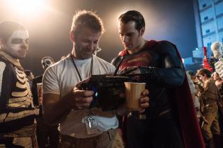 Zack Snyder i Henry Cavill na planie Batman v Superman