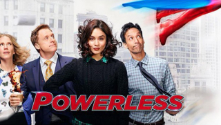 Powerles logo - NBC / Warner / DC Comics