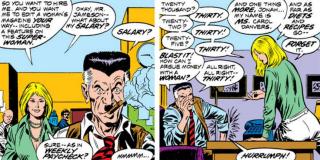 """Gdy kariera Carol w NASA dobiegła końca, przez pewien czas pracowała ona jako redaktorka """"Woman Magazine"""", jednego z dodatków do znanego z komiksów o Spider-Manie """"Daily Bugle""""; ostatecznie odeszła z pracy, gdy redaktor naczelny, J. Jonah James, kazał jej pisać o diecie i przepisach kulinarnych"""