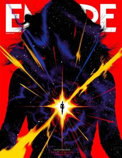 Kapitan Marvel - okładka Empire