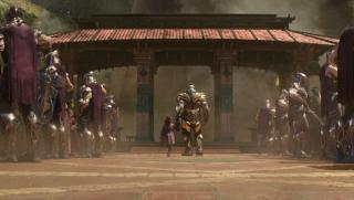 """Nieznana data: Thanos porywa Gamorę i Nebulę, nazywając je potem swoimi """"córkami""""."""