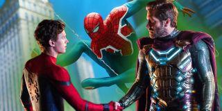 Sam Mysterio w ramach swoich kłamstw przedstawia się jako postać z Ziemi-833. W tym komiksowym świecie działa Spider-UK, wersja Pajączka z Wielkiej Brytanii, jak również Kapitan Brytania, heros, do którego nawiązywał już film Avengers: Endgame.