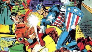 Kapitan Ameryka uderza Hitlera w twarz (Captain America #1)