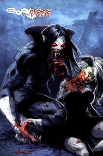 Według oryginalnej genezy Michael Morbius jest urodzonym i wychowanym w Grecji genialnym naukowcem, laureatem Nagrody Nobla w dziedzinie biochemii. Zmaga się on z działającą destrukcyjnie na jego organizm chorobą krwi. Z czasem zaczął pracować nad eksperymentalnym leczeniem, w którym wykorzystywał krew nietoperze-wampirów i elektrowstrząsy. Terapia ta zamieniła go w pseudo-wampira (oznacza to, że wpływu na jego genezę nie miała magia). I tak Morbius charakteryzuje się typowymi dla wampirów właściwościami, z awersją na światło, umiejętnością latania i pragnieniem krwi na czele. W dodatku po przemianie zyskał on kły, jego nos się wydłużył, a jego skóra stała się zupełnie blada.