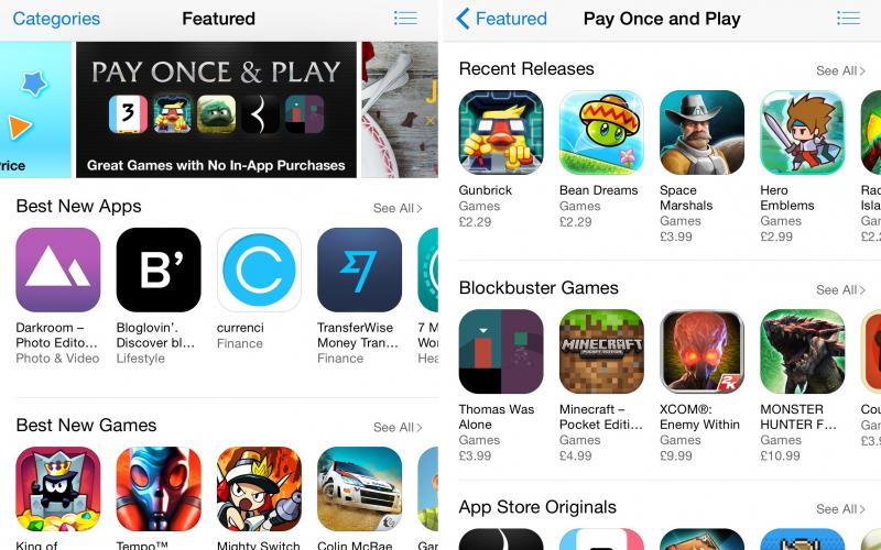 """App Store z nową kategorią gier – """"Zapłać raz i graj"""""""
