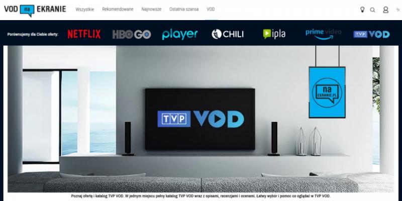 VOD TVP, nc+ GO, iTunes i inne - nowe serwisy streamingowe na vod.naEKRANIE.pl