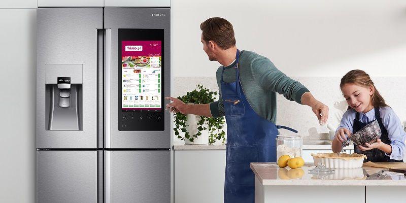 Samsung rozwija ideę inteligentnego domu wprowadzając sklep do lodówki