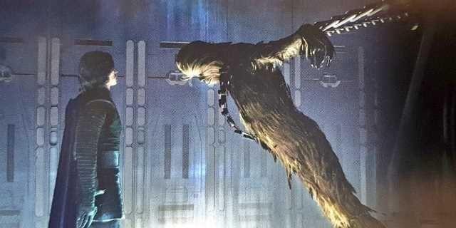 Star Wars 9 - to Chewie rozbudził w Kylo Renie nadzieję. Scenę z wyrocznią nakręcono, jest zdjęcie zza kulis