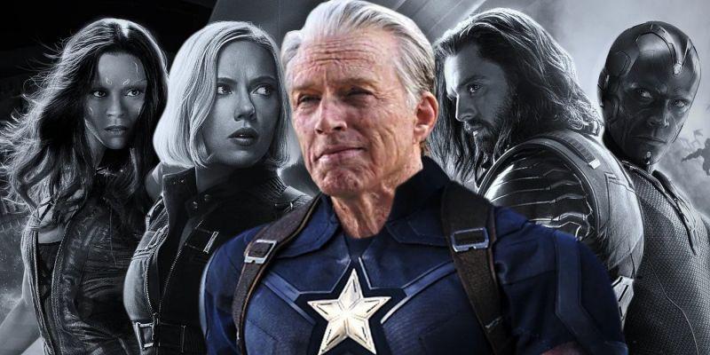 Avengers: Endgame - plakat na trudne czasy. Stary człowiek i tarcza