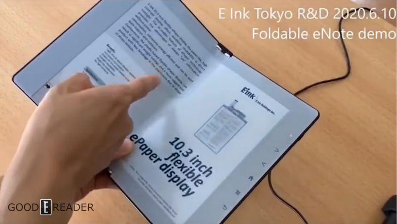 Firma E-ink zaprezentowała składany czytnik e-booków