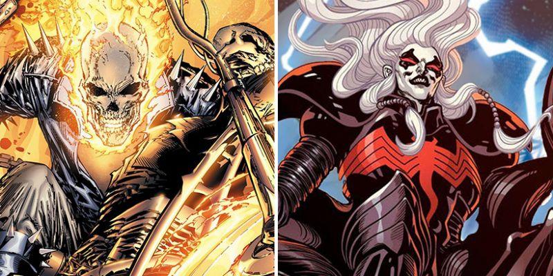 Marvel - Ghost Rider rusza na Knulla, ciągnąc Mefisto po ziemi. Piekło w King in Black