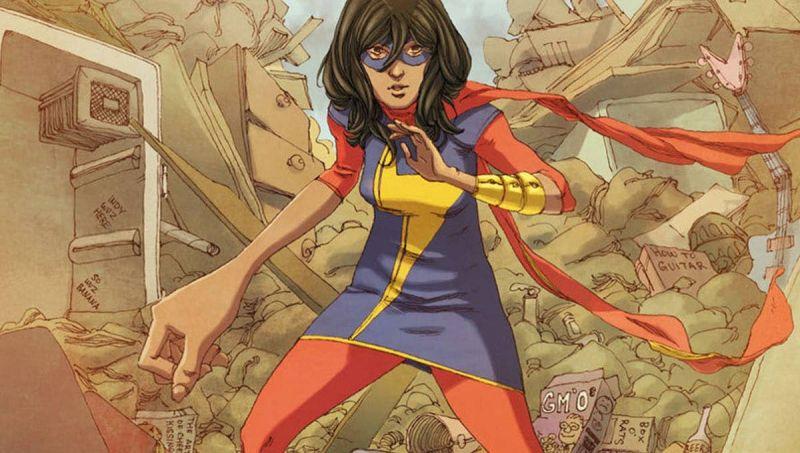 Ms. Marvel - nowe zdjęcia z planu serialu. Superbohaterka w kostiumie