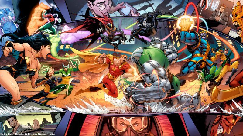 Marvel - rusza Heroes Reborn! Thor smutniejszy niż w MCU, maniak Thanos, inne moce Scarlet Witch
