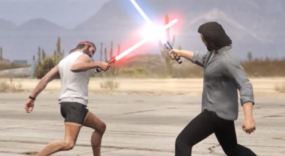 Miecze świetlne w Grand Theft Auto V