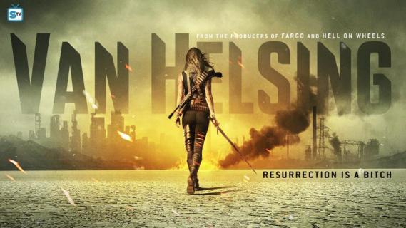 Plakat serialu Van Helsing. Oto łowczyni potworów