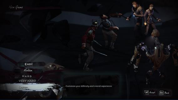 Dishonored 2 z wyborem misji i niestandardowym poziomem trudności