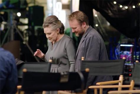 Carrie Fisher była autorką dwóch scen w Ostatnim Jedi