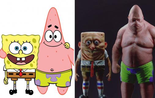 Spongebob i Patryk jako ludzie. Artysta stworzył coś naprawdę niepokojącego