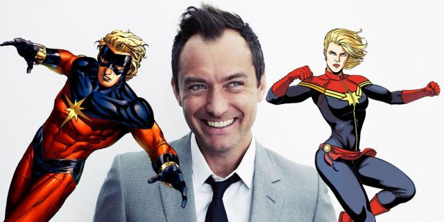 Jude Law jako Mar-Vell na zdjęciach z planu Captain Marvel