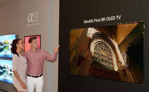 My tu cieszymy się 4K, a LG chce rozpocząć erę telewizorów OLED 8K