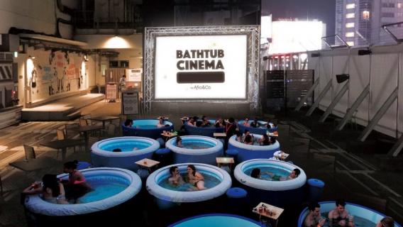 Kino na czas upałów. W Tokio będzie można oglądać film w wannie