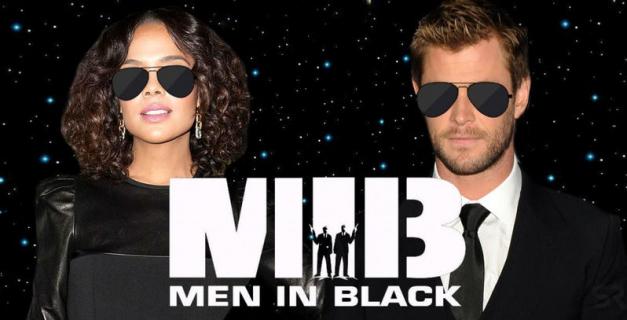 Faceci w czerni – Hemsworth i Thompson na planie. Wideo i zdjęcie