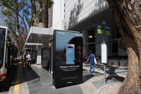 Bezprzewodowe ładowarki Samsunga pojawiły się na przystankach w Singapurze