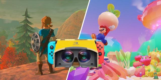 Super Mario Odyssey i Breath of the Wild otrzymają wsparcie dla kartonowego VR