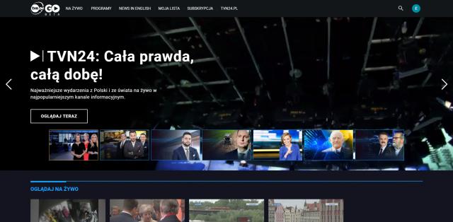 TVN24 GO – pierwsza europejska platforma VoD z treściami informacyjnymi