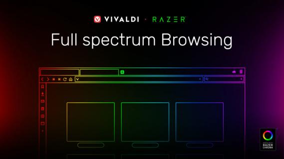 Razer Chroma trafia do przeglądarki. Vivaldi rozświetli się kolorami twojej myszki i klawiatury