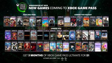Xbox Game Pass: Ponad 50 nowych gier trafi do usługi w 2019 i 2020 roku