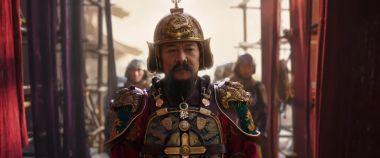 Mulan - plakaty postaci. Jest Jet Li jako cesarz