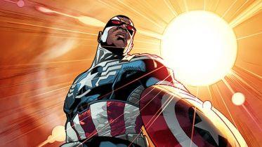 Falcon jako Kapitan Ameryka na wczesnych projektach twórców komiksu