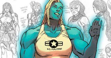 Poznajcie przyrodnią siostrę Kapitan Marvel. Jej muskulatura robi wrażenie