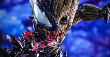 Baby Groot pochłaniany przez Venoma. Figurka urwisa, którego lepiej nie przedstawiać dzieciom