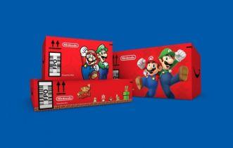 Amazon rozsyła do klientów paczki w kartonach z motywem z Mario