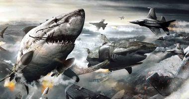 Sky Sharks - zwiastun szalonego filmu. Zombie naziści na latających rekinach bojowych