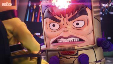 M.O.D.O.K - złoczyńca z ramionami w stylu Doktora Octopusa na plakatach promujących serial