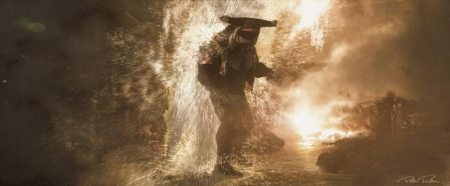Legion samobojców – King Shark i Mark Strong jako Joker. Szkice koncepcyjne