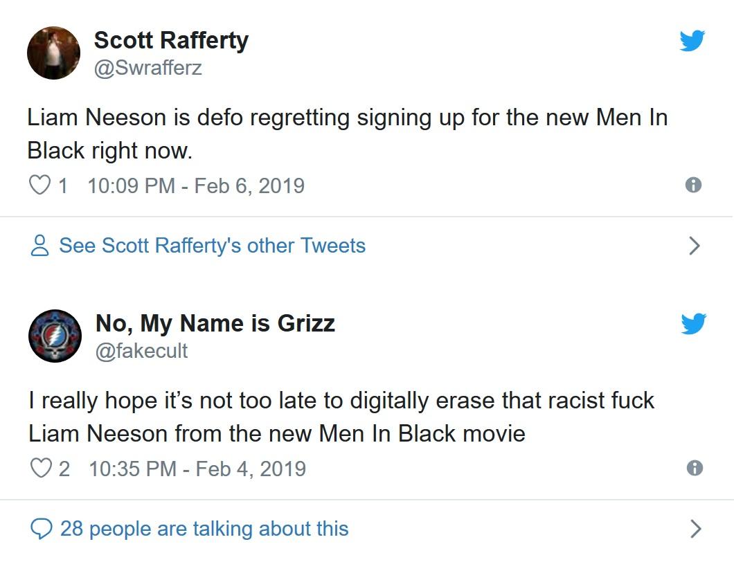 Men in Black - Liam Neeson pod ostrzałem