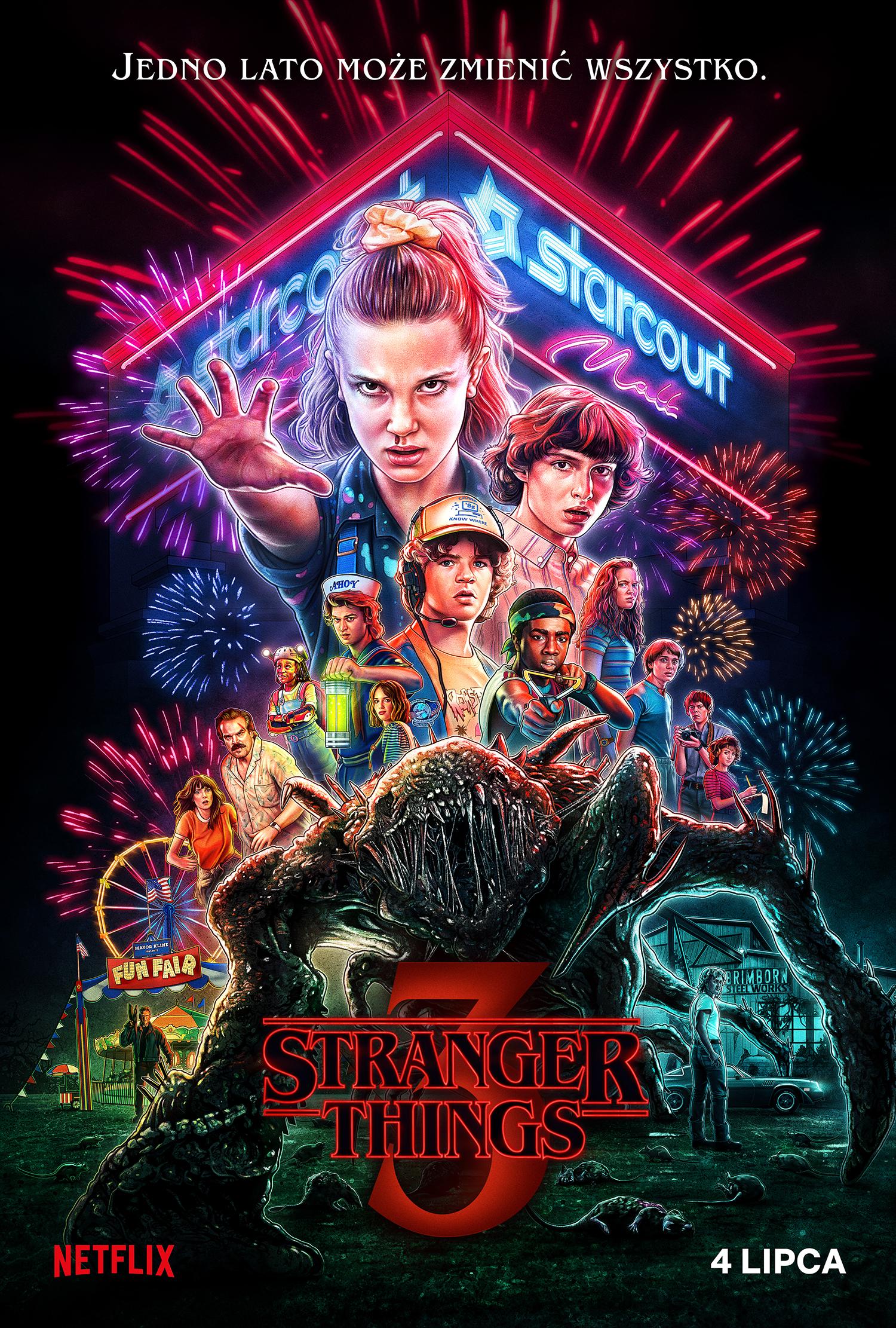 Stranger Things 3. sezon - plakat