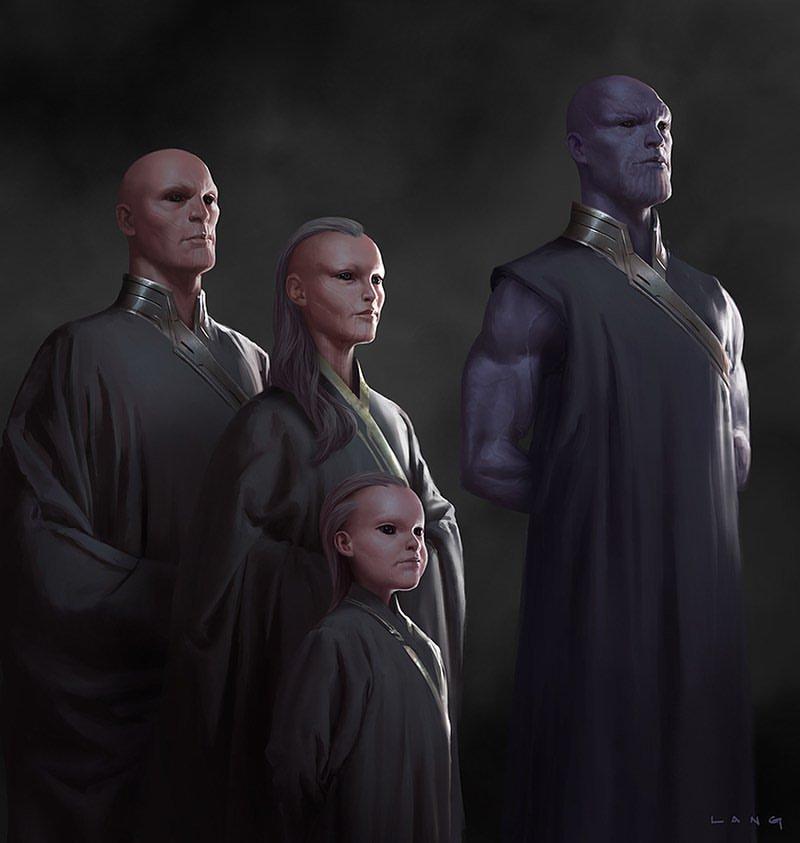 Avengers: Koniec gry - szkic koncepcyjny młodego Thanosa