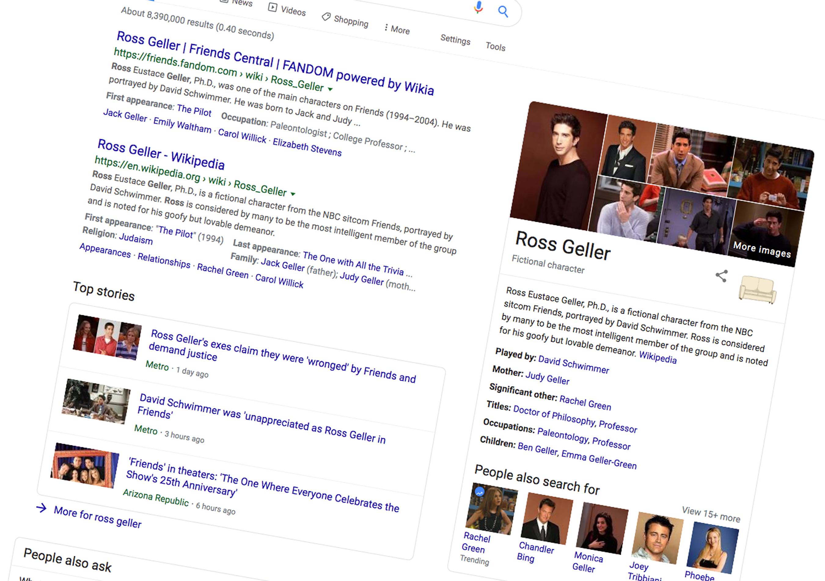 Przyjaciele - 25. rocznica w Google