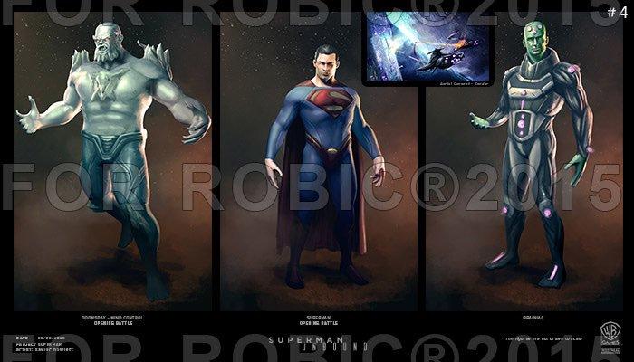 Gra z Supermanem od Warner Bros. - grafiki koncepcyjne
