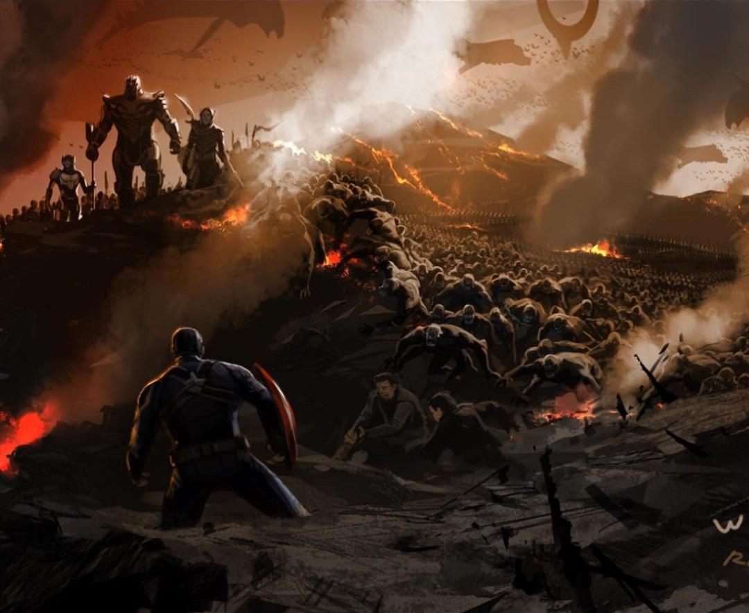 Avengers: Koniec gry - szkic koncepcyjny