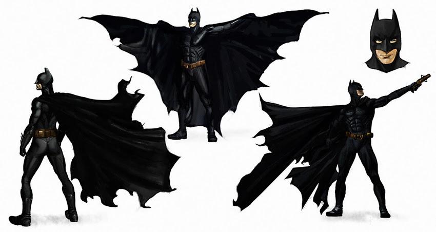 Batman - Początek - szkice koncepcyjne