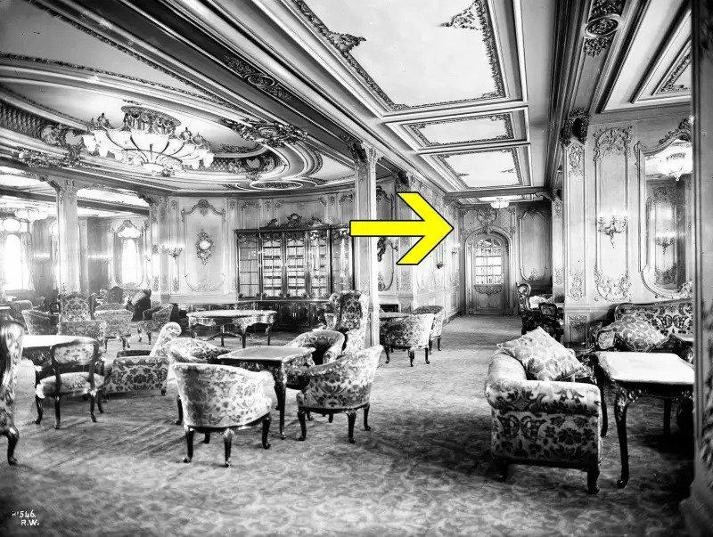 Wnętrze statku Titanic
