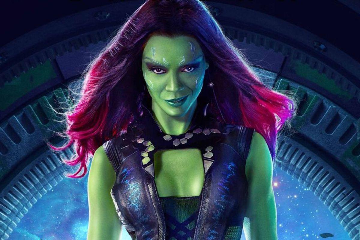 50. Gamora - Wyszkolona zabójczyni, mistrzyni sztuk walki, do perfekcji opanowała posługiwanie się różnymi rodzajami broni.