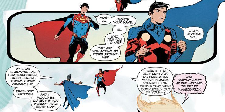 Legion of Super-Heroes #8 - plansze