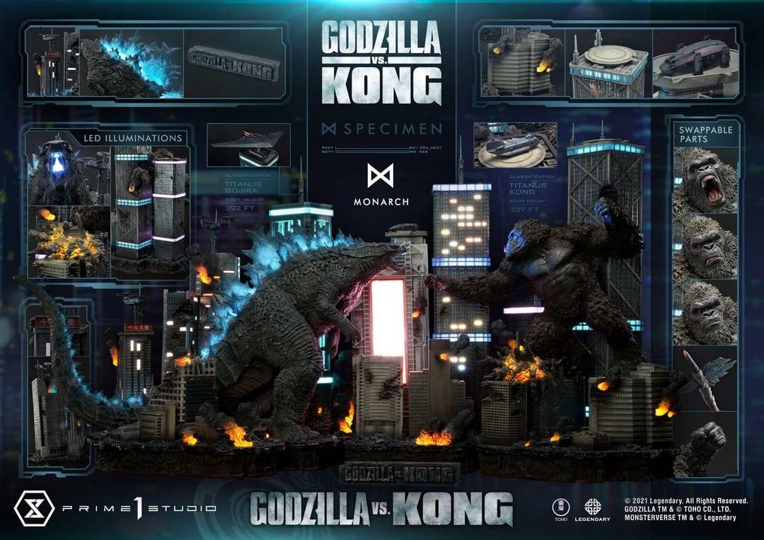 Godzilla kontra Kong finałowa bitwa figurki